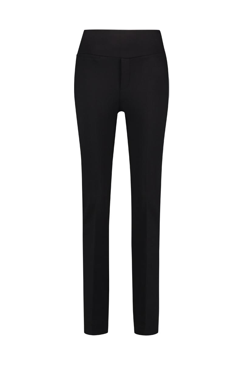 Luxe basis broek met dubbele stevige tailleband.