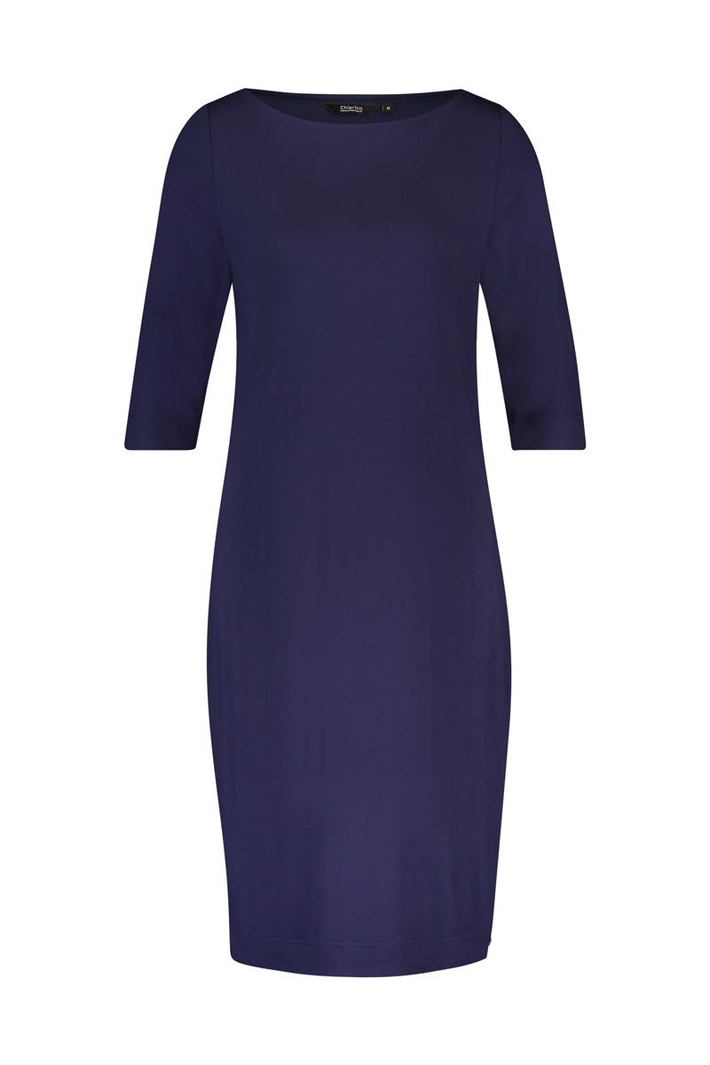 De rechte halslijn maakt deze jurk heel chique. - Dress Audrey is aan de voorzijde dubbel zodat deze minder tekent en mooier aansluit. - Mouwlengte ¾ materiaal: 95% viscose 5% elastaan
