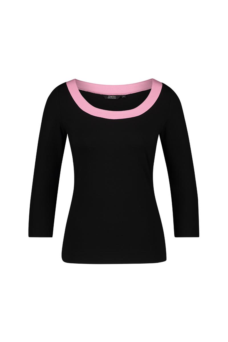 Deze top heeft een mooie ronde ballet hals en is aansluitend. - Twee kleuren - ¾mouw materiaal: 95% viscose 5% elastaan
